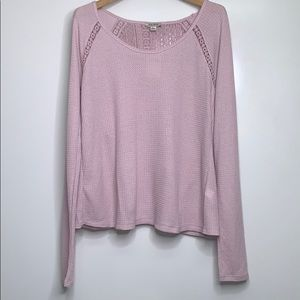 NWTs LUCKY BRAND • Blush Textured Thermal Top
